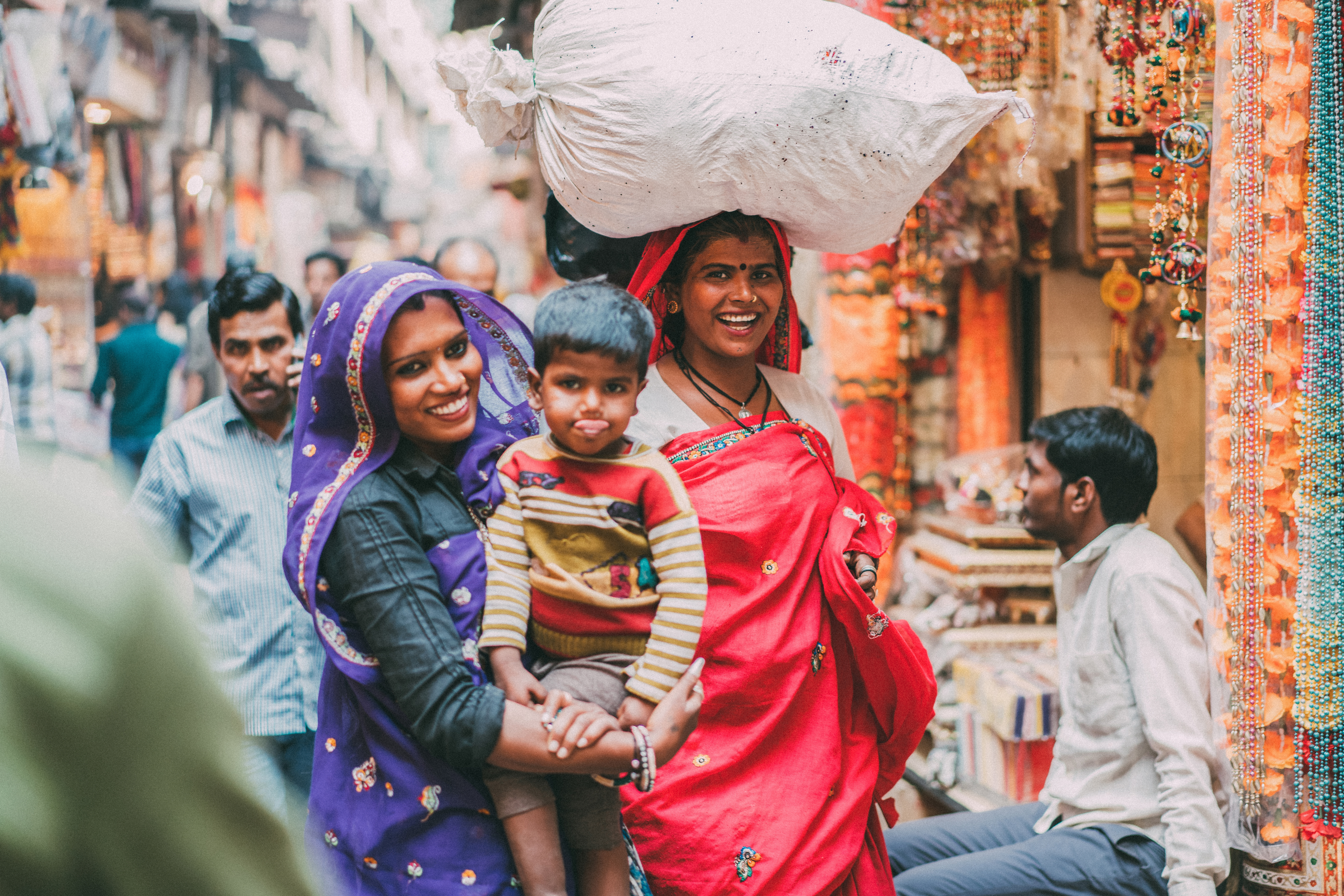 Smiling India Women with Child